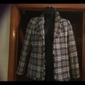 Nipon Boutique Black and White Jacket- Size 16W